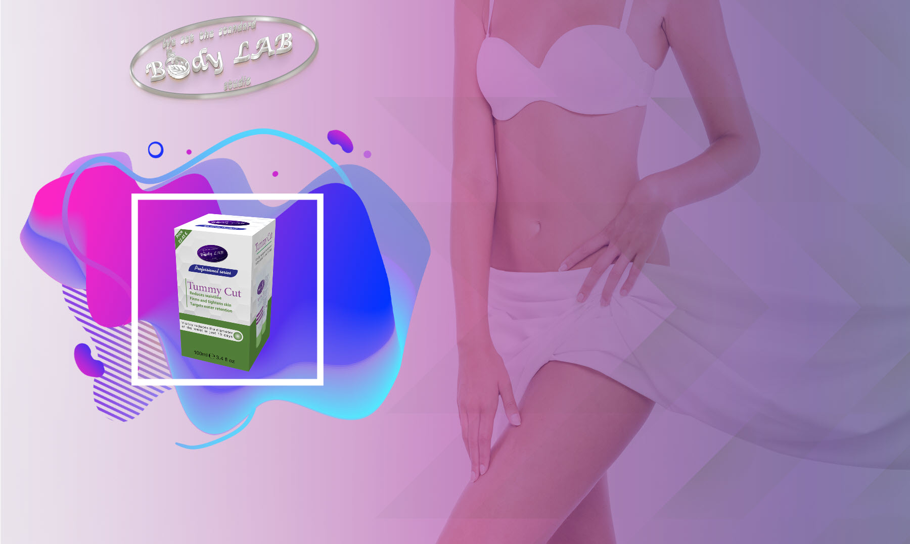 Стягащ крем Body Tummy Cut от BodyLAB Studio