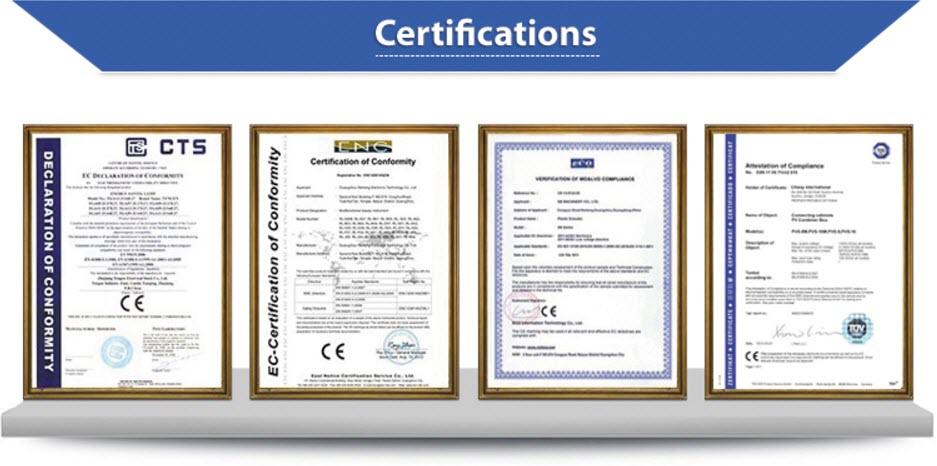 Сертификати - апарат за кавитация, вакуум и RF лифтинг - BL-CruiserMk I